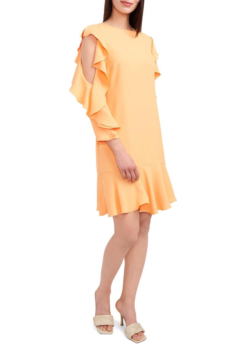 Vince Camuto Ruffle Long Sleeve Sheath Dress