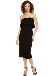 Vince Camuto Ruffle Off Shoulder Midi Dress