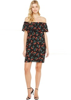 Vince Camuto Ruffle Off Shoulder Tropic Spritz Dress