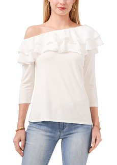 Vince Camuto Ruffle One Shoulder Top