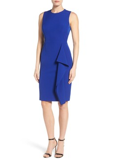 Vince Camuto Ruffle Sheath Dress (Regular & Petite)