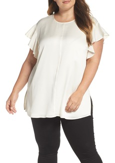 Vince Camuto Ruffle Sleeve Blouse (Plus Size)