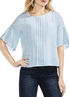 VINCE CAMUTO Ruffle-Sleeve Crinkle Top