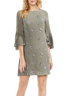 Vince Camuto Ruffle Sleeve Floral Dress