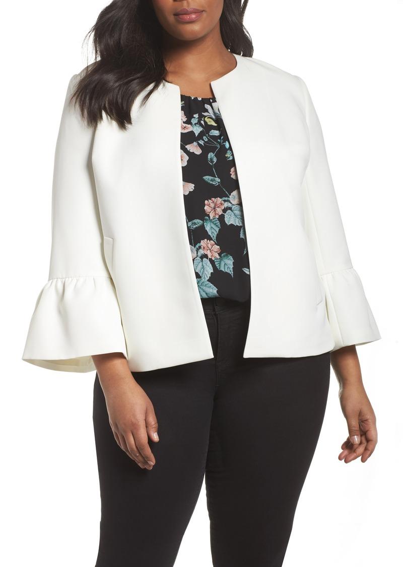 Vince Camuto Ruffle Sleeve Jacket (Plus Size)