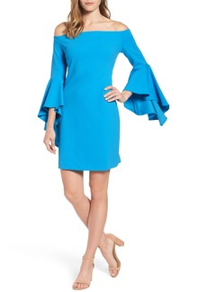 Vince Camuto Ruffle Sleeve Off the Shoulder Dress