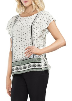 Vince Camuto Ruffle Sleeve Printed Blouse