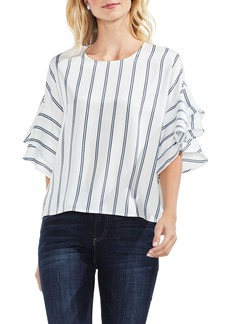 Vince Camuto Ruffle Sleeve Stripe Blouse