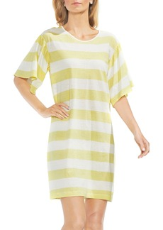 Vince Camuto Ruffle Sleeve Stripe T-Shirt Dress