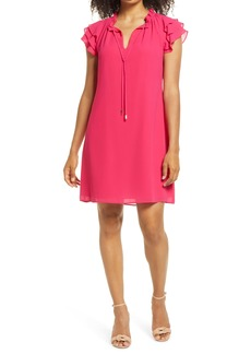 Vince Camuto Ruffle Tie Neck Shift Dress
