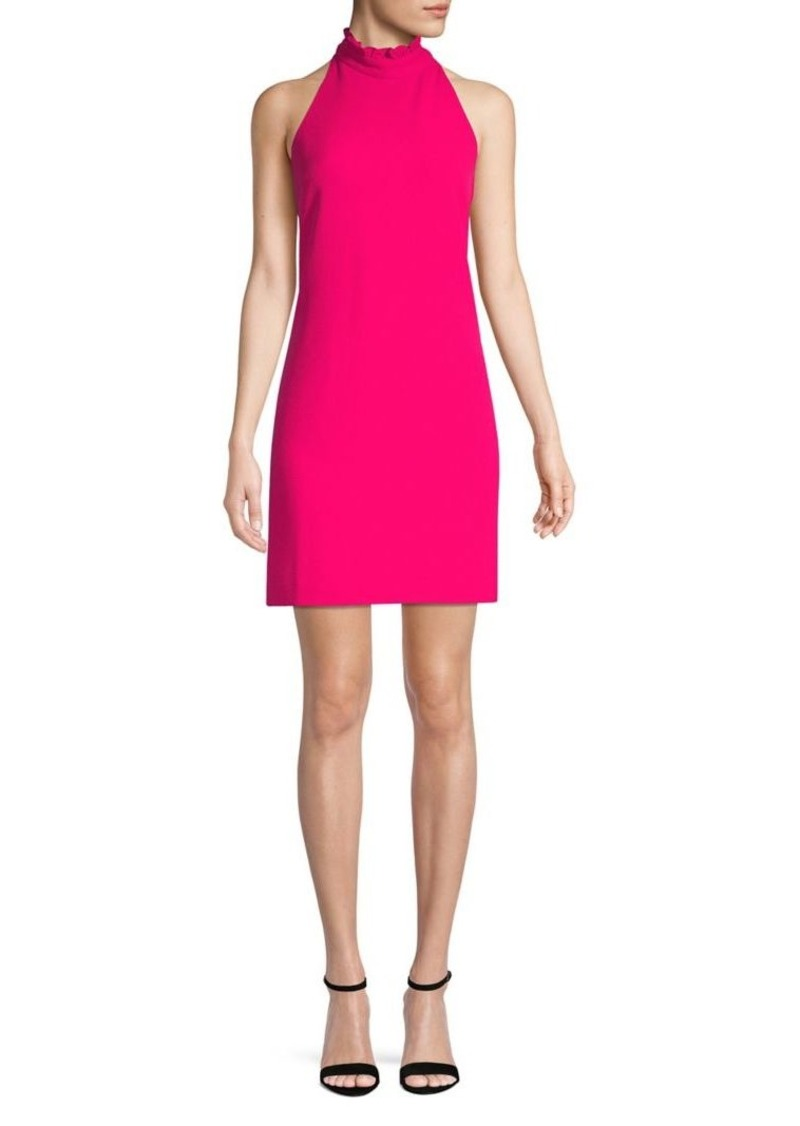 Vince Camuto Ruffle-Trimmed High Neck Shift Dress