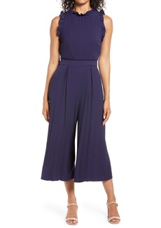 Vince Camuto Ruffle Wide Leg Jumpsuit