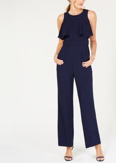 Vince Camuto Ruffled-Bodice Sleeveless Jumpsuit