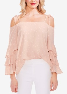 Vince Camuto Ruffled Cold-Shoulder Top