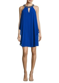 Vince Camuto Ruffled Halterneck Dress