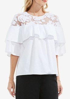 Vince Camuto Ruffled Lace Top