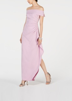 Vince Camuto Ruffled Off-The-Shoulder Gown