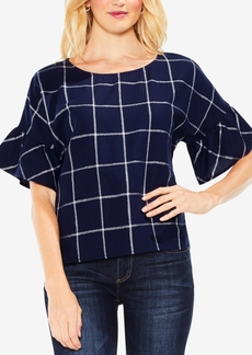 Vince Camuto Ruffled-Sleeve Top