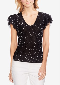 Vince Camuto Ruffled V-Neck Top