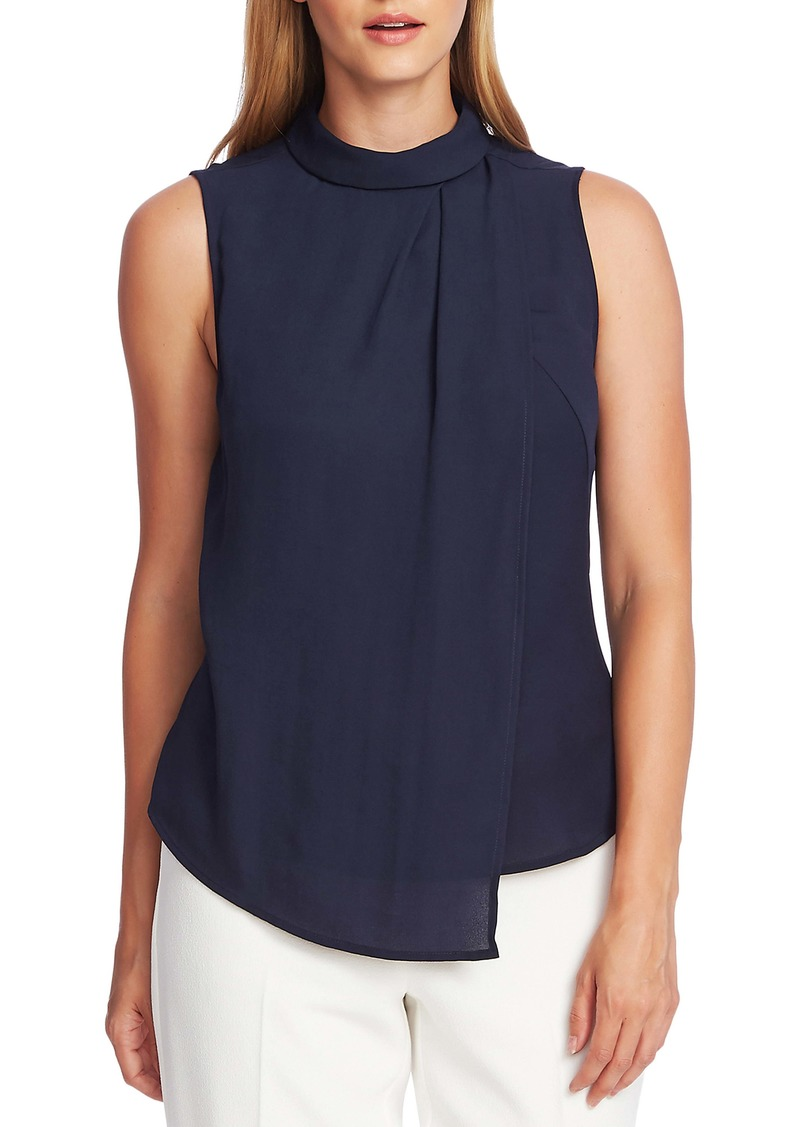 Vince Camuto Rumple Georgette Sleeveless Top