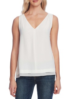 Vince Camuto Rumple Georgette Tank Top