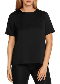 VINCE CAMUTO Rumple Hammer Satin Top