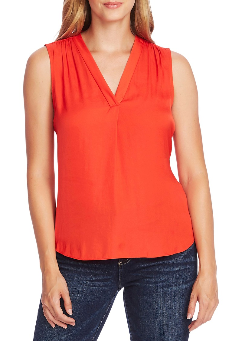 Vince Camuto Rumpled Satin Blouse