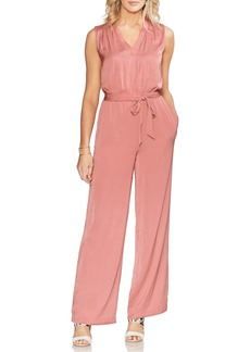 Vince Camuto Rumpled Satin Jumpsuit