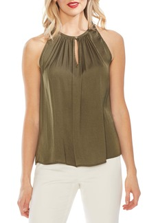 Vince Camuto Rumpled Satin Keyhole Top (Regular & Petite)