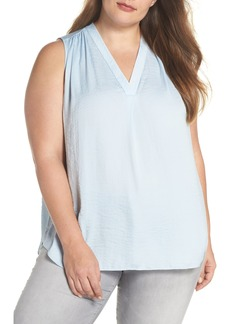 Vince Camuto Rumpled Satin Top (Plus Size)
