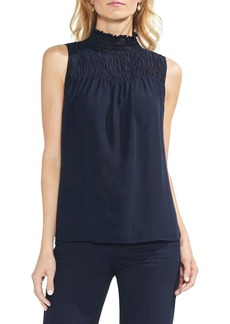Vince Camuto Sapphire Bloom Smocked Top