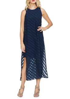 Vince Camuto Sapphire Sheen Striped Maxi Dress