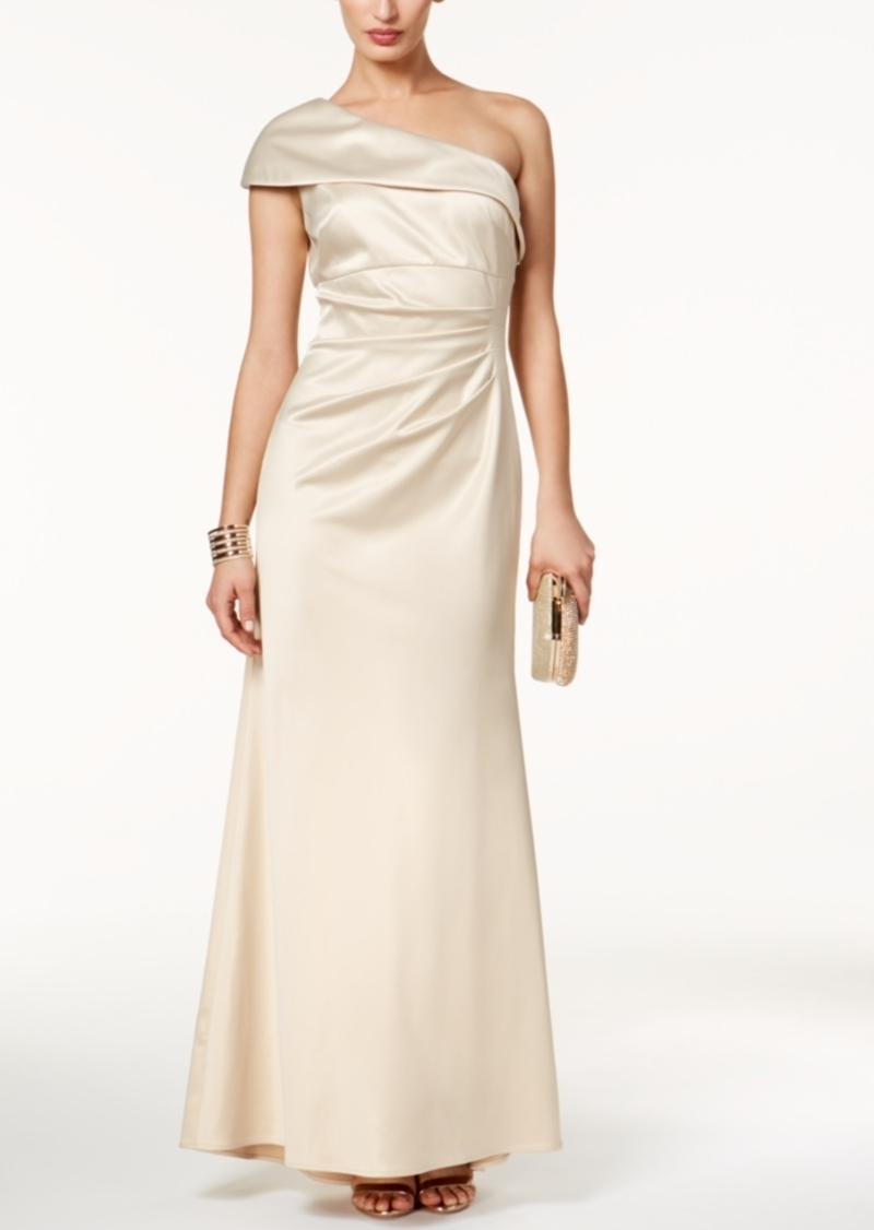 Vince Camuto Vince Camuto Satin Foldover One-Shoulder Gown | Dresses