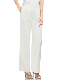 Vince Camuto Satin Front Pleat Wide Leg Pants