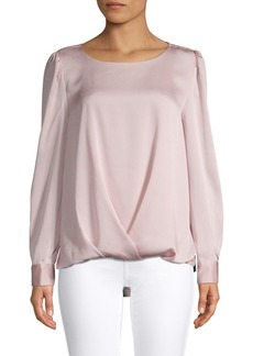 Vince Camuto Satin Pleated Blouse