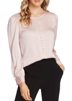 VINCE CAMUTO Satin Puff-Shoulder Top