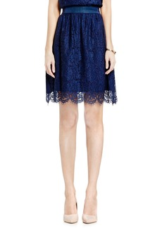 Vince Camuto Scallop Lace Full A-Line Skirt