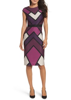 Vince Camuto Scuba Body-Con Dress