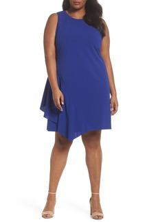 Vince Camuto Scuba Crepe A-Line Dress (Plus Size)