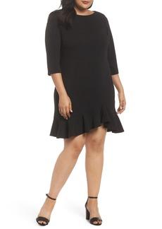 Vince Camuto Scuba Crepe Sheath Dress (Plus Size)