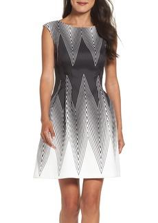 Vince Camuto Scuba Fit & Flare Dress (Regular & Petite)