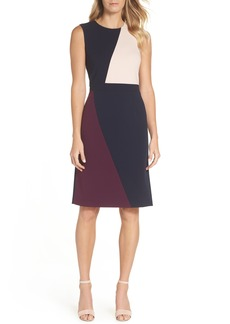 Vince Camuto Scuba Colorblock Sheath Dress (Regular & Petite)