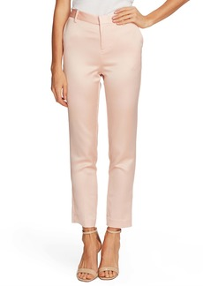 Vince Camuto Seersucker Satin Slim Leg Trousers