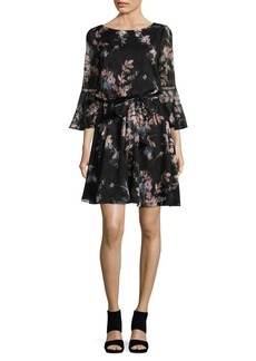 Vince Camuto Self-Tie Bell Sleeve Dress