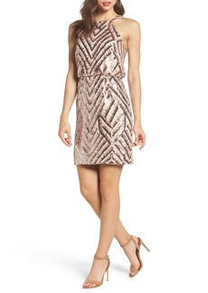 Vince Camuto Sequin Blouson Dress