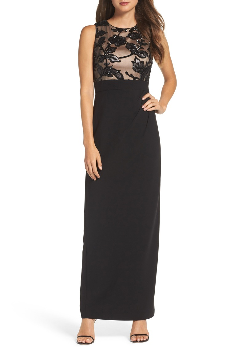 Vince Camuto Vince Camuto Sequin Crepe Column Gown | Dresses