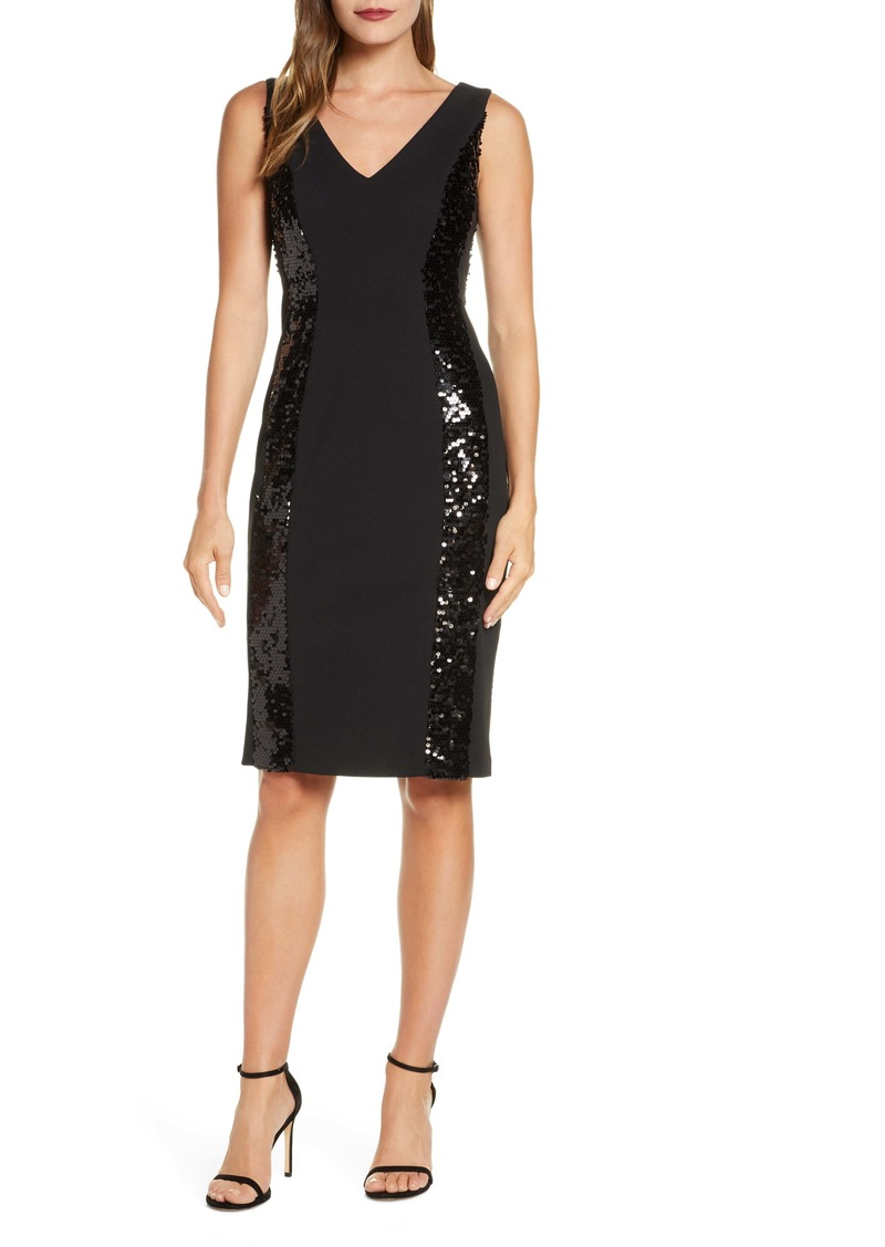 Vince Camuto Sequin Detail Cocktail Dress