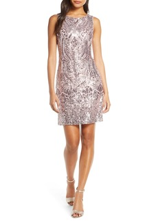 Vince Camuto Sequin Embellished Cocktail Minidress