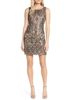 Vince Camuto Sequin Embellished Cocktail Dress