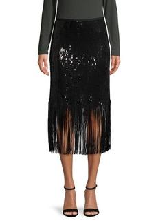 Vince Camuto Sequin-Embellished Skirt